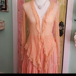 Boutique cardigan in peach flesh